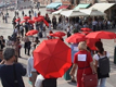 CODE:RED, Red Umbrellas March, Venice, 2001